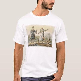 Alaskan man and woman (colour engraving) T-Shirt