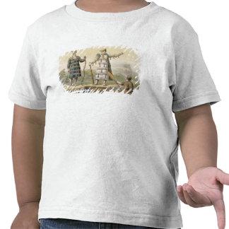 Alaskan man and woman (colour engraving) tee shirt