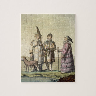 Alaskan men and women dressed for fishing (colour jigsaw puzzle