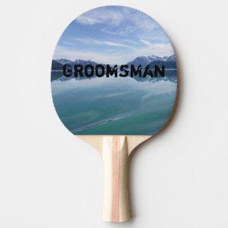 Alaskan Mountain Range Ping Pong Paddle
