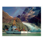 Alaskan Mountain View with Boat Postcards
