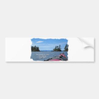 Alaskan Mtn Range / Mtns are calling…Muir Bumper Sticker