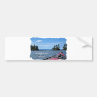Alaskan Mtn Range / Mtns are calling…Muir Car Bumper Sticker