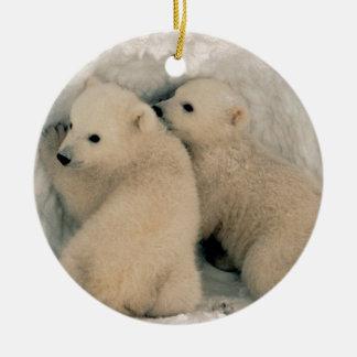Alaskan Polar Bear Cubs Christmas Ornament