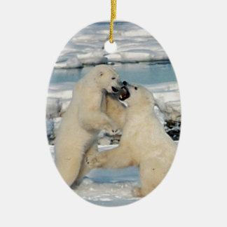 Alaskan Polar Bears Ornament