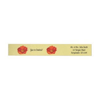 Alaskan Red Poppy Colorful Flower Wrap Around Label