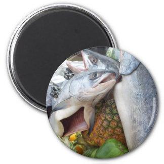 Alaskan Salmon Buffet 6 Cm Round Magnet