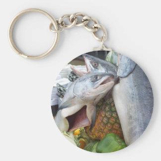 Alaskan Salmon Buffet Basic Round Button Key Ring
