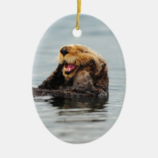 Alaskan Sea Otter Christmas Ornament