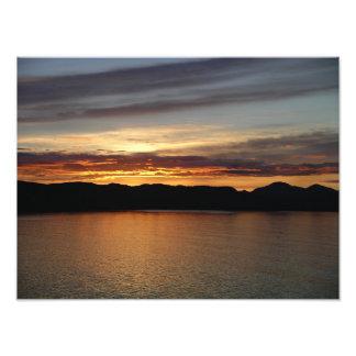 Alaskan Sunset II Beautiful Alaska Photography Photo