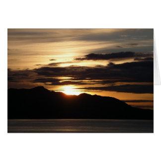Alaskan Sunset III Beautiful Alaska Photography Greeting Card