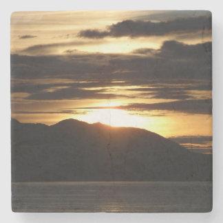 Alaskan Sunset III Beautiful Alaska Photography Stone Coaster