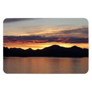 Alaskan Sunset Premium Magnet