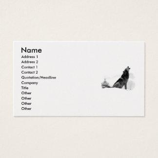 Alaskan Timber Wolf Business Card