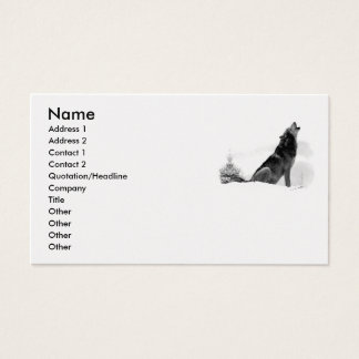 Alaskan Timber Wolf Business Card
