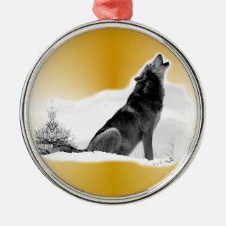 Alaskan Timber Wolf Christmas Ornament