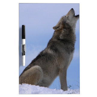 Alaskan Timber Wolf Dry Erase Board