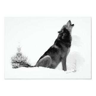 Alaskan Timber Wolf Invitation
