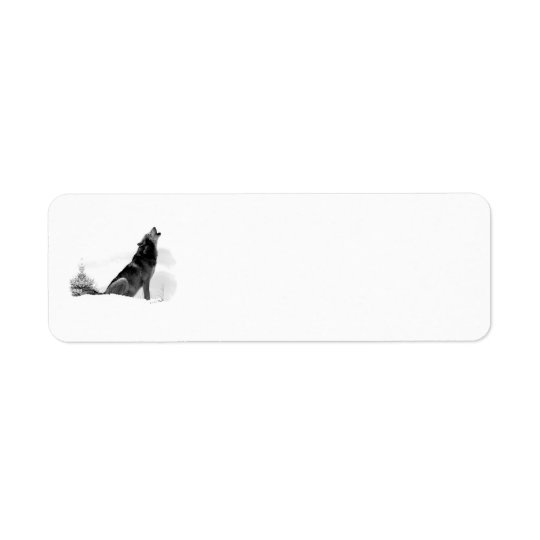 Alaskan Timber Wolf Label Return Address Label