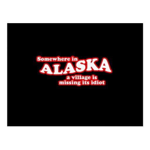Alaskan village idiot post card