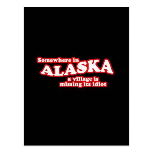 Alaskan village idiot postcards