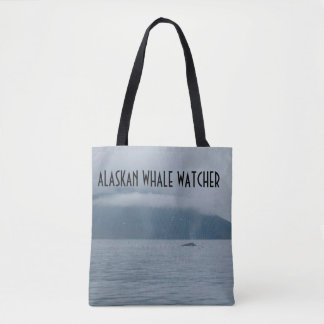 ALASKAN WHALE WATCHER TOTE BAG