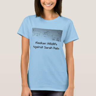 Alaskan Wildlife Against Sarah Palin T-Shirt