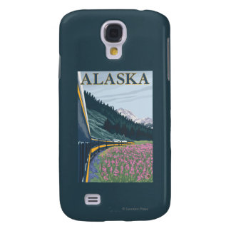AlaskaRailroad and Fireweed Vintage Travel Galaxy S4 Case