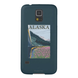 AlaskaRailroad and Fireweed Vintage Travel Galaxy S5 Cover