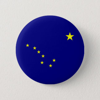 Alaska's Flag 6 Cm Round Badge