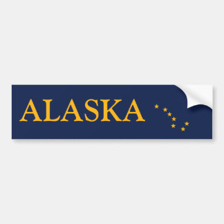 Alaska's Flag Bumper Sticker