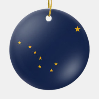 Alaska's Flag Christmas Ornament