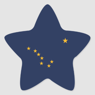 Alaska's Flag Star Sticker