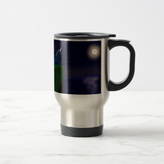 Alastair and the moon stainless steel travel mug