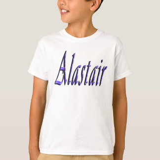 Alastair, Name, Logo, Boys White T-shirt