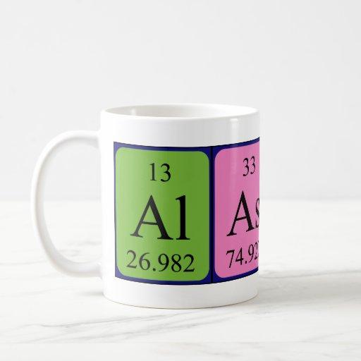 Alastair periodic table name mug
