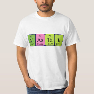 Alastair periodic table name shirt