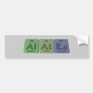 Alates-Al-At-Es-Aluminium-Astatine-Einsteinium Bumper Sticker
