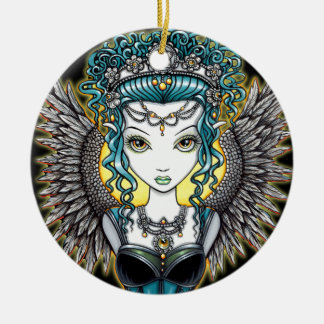 """Alaura"" Gothic Angel Ornament"