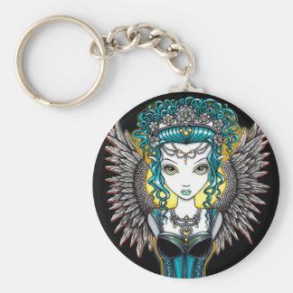 """""""Alaura"""" Gothic Guardian Angel Keychain"""