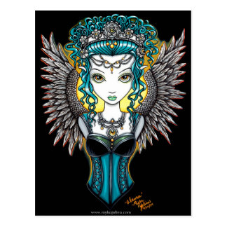 """Alaura"" Gothic Guardian Angel Postcard"