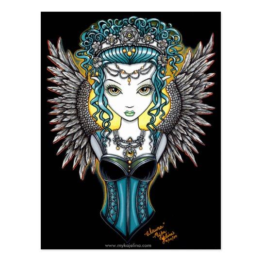"""Alaura"" Gothic Guardian Angel Postcard"