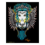 """""""Alaura"""" Gothic Guardian Angel Posters"""