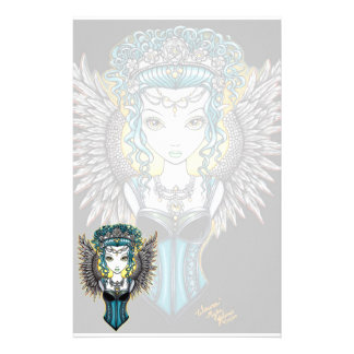 """Alaura"" Gothic Guardian Angel Stationery"