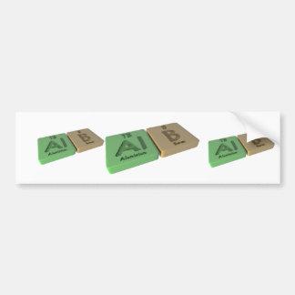 Alb as Al Aluminium and B Boron Bumper Stickers