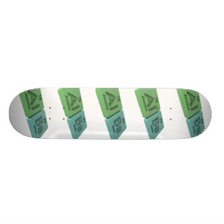 Alba as Aluminium Al and Barium Ba Skate Decks
