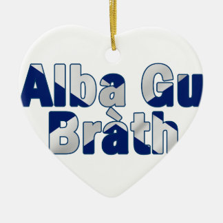 Alba gu bràth Design Ceramic Heart Decoration