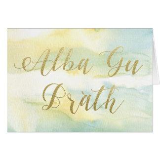 Alba Gu Brath Watercolour & Gold Greetings Card