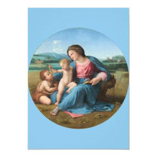 Alba Madonna Raphael 13 Cm X 18 Cm Invitation Card