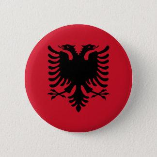 albania 6 cm round badge